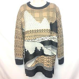 Woolrich Medium Tunic Wool Cotton Sweater Xmas